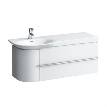 816706 - Laufen Palace 1200mm X 460mm Countertop Washbasin (Right Shelf) & Vanity Unit (2D) 8.1670.6